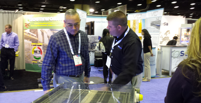 Mike Price with a potential customer at Pack Expo 2015